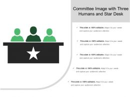Committee Image With Three Humans And Star Desk