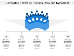 Committee Shown By Humans Desk And Document
