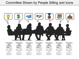 Committee Shown By People Sitting And Icons