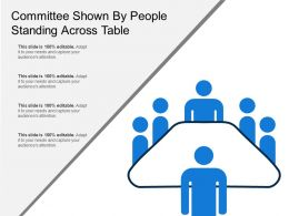 Committee Shown By People Standing Across Table