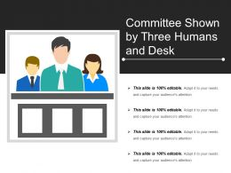 Committee Shown By Three Humans And Desk