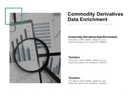 Commodity Derivatives Data Enrichment Ppt Powerpoint Presentation Model Cpb