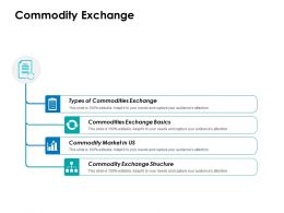 Commodity Exchange Ppt Icon Layout