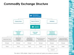 Commodity Exchange Structure Ppt Icon Information