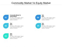 Commodity Market Vs Equity Market Ppt Powerpoint Presentation Styles Picture Cpb