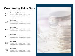 Commodity Price Data Ppt Powerpoint Presentation Show Inspiration Cpb