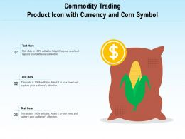 Commodity Trading Product Icon With Currency And Corn Symbol