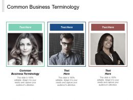 Common Business Terminology Ppt Powerpoint Presentation Gallery Elements Cpb
