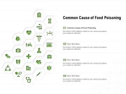 Common Cause Of Food Poisoning Ppt Powerpoint Presentation Slides Layouts