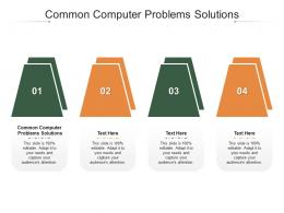 Common Computer Problems Solutions Ppt Powerpoint Presentation Inspiration File Cpb