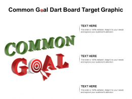 Common Goal Dart Board Target Graphic