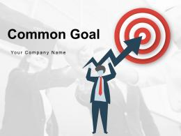 Common Goal Target Graphic Arrow Innovation Puzzle Carrying Team