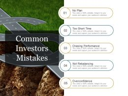 Common Investors Mistakes Ppt Inspiration