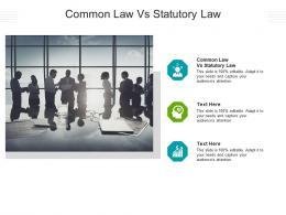 Common Law Vs Statutory Law Ppt Powerpoint Presentation Portfolio Icon Cpb