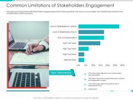 Common Limitations Of Stakeholders Engagement Project Engagement Management Process Ppt Slides