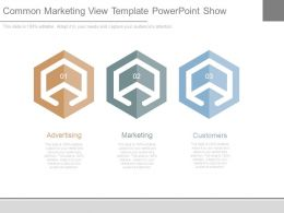 Common Marketing View Template Powerpoint Show