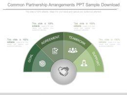 common_partnership_arrangements_ppt_sample_download_Slide01