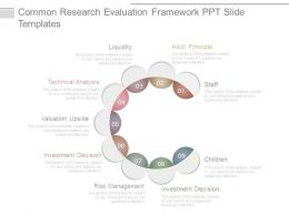 Common Research Evaluation Framework Ppt Slide Templates