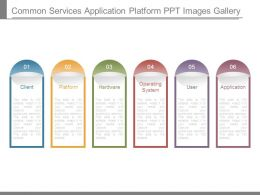 Common Services Application Platform Ppt Images Gallery