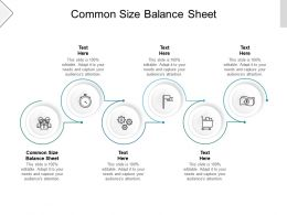 Common Size Balance Sheet Ppt Powerpoint Presentation Model Graphics Pictures Cpb