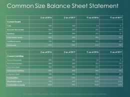 Common Size Balance Sheet Statement Current Liabilities Ppt Powerpoint Slides