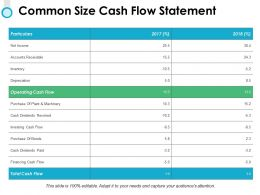 Common Size Cash Flow Statement Cash Flow Powerpoint Presentation Display