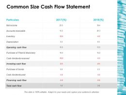 Common Size Cash Flow Statement Ppt Icon Shapes