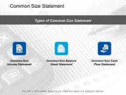 Common Size Statement Marketing Ppt Summary Designs Download