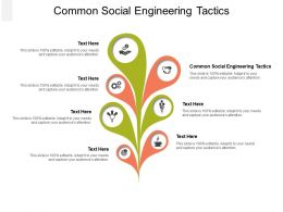 Common Social Engineering Tactics Ppt Infographic Template Graphics Pictures Cpb