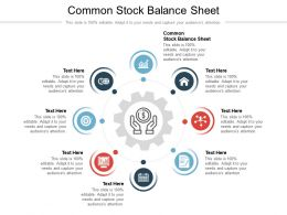 Common Stock Balance Sheet Ppt Powerpoint Presentation File Deck Cpb
