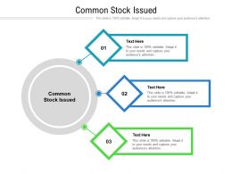 Common Stock Issued Ppt Powerpoint Presentation Pictures Show Cpb