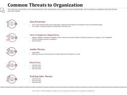 Common Threats To Organization Compliance Regulations Ppt Presentation Visuals