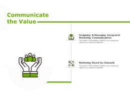 Communicate The Value Marketing Communication Ppt Powerpoint Presentation Show Files
