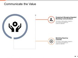 Communicate The Value Marketing Reach Channels Ppt Powerpoint Presentation Tips