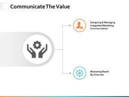 Communicate The Value Ppt Powerpoint Presentation File Example File