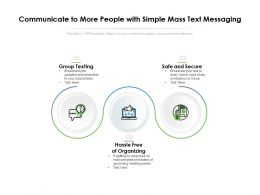 Communicate To More People With Simple Mass Text Messaging