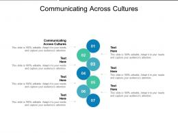 Communicating Across Cultures Ppt Powerpoint Presentation Infographic Template Inspiration Cpb