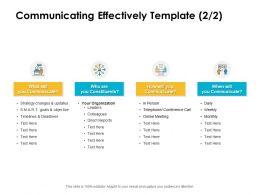 Communicating Effectively Organization Ppt Powerpoint Presentation Slide