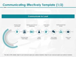 Communicating Effectively Preach Ppt Powerpoint Presentation Icon