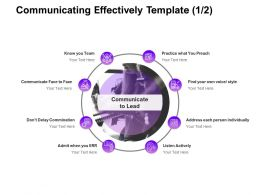 Communicating Effectively Team Ppt Powerpoint Presentation Show Format