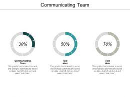 Communicating Team Ppt Powerpoint Presentation Outline Portfolio Cpb