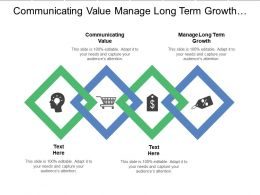 Communicating Value Manage Long Term Growth Connecting Customer