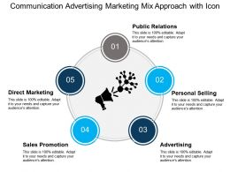 Communication Advertising Marketing Mix Approach With Icon