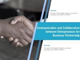 Communication And Collaboration Between Entrepreneurs For Business Partnership