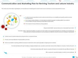 Communication And Marketing Plan For Reviving Tourism And Leisure Industry Needs Ppt Powerpoint Presentation Slides