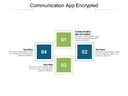 Communication App Encrypted Ppt Powerpoint Presentation Portfolio Microsoft Cpb