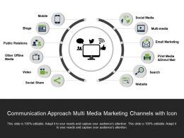 Communication Approach Multi Media Marketing Channels With Icon