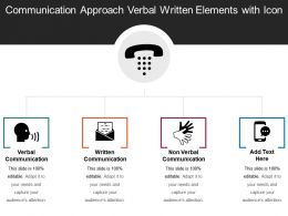 Communication Approach Verbal Written Elements With Icon