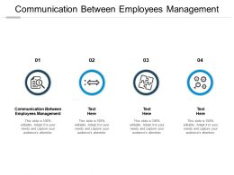 Communication Between Employees Management Ppt Powerpoint Presentation Styles Graphics Cpb
