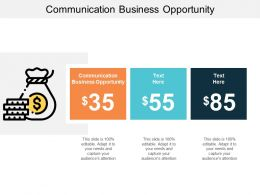 Communication Business Opportunity Ppt Powerpoint Presentation Icon Ideas Cpb